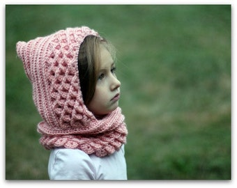 CROCHET PATTERN: Crocodile Dragon Stitch Hood (Toddler and Child) - Permission to Sell Finished Product