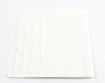 LARGE GLASSINE ENVELOPES (Set of 5) - Large Semi Transparent Glassine Envelopes with Top Flap (12cm x 18cm)