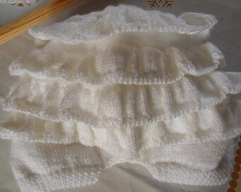 Panties Blanche Fille 1-3 months.