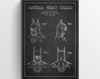 1992 Batman Poster, Batman Patent, Batman Decor, Batman Wall Art, Home Decor, Gift Idea, GT01P