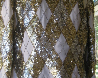 VIVA! Old Hollywood 1950 by Dynasty sequin top entertainment theater costume craft (needs repair)