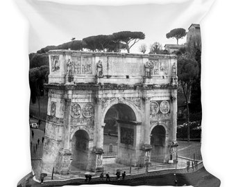Arch of Constantine Rome Square Pillow, 1:100 Limited Edition