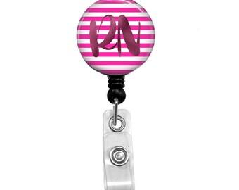 Pink RN Retractable Badge Reel