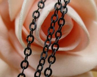 Electrophoresis Black Metal Chains-2×3mm,Bracelet Chains,DIY Necklace Chains,Jewellery Chains-c1032-D