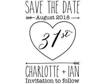 Custom Love Save The Date Stamp, invite to follow stamp, wedding stamp, invitations stamp, favours stamp, DIY bride stationery, (cstd25)
