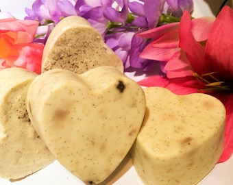 Horchata Soap Hearts. Vanilla Bean, cinnamon and oatmeal, GKN's signature bar 3.8-4oz per
