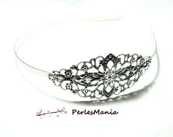 PAX 5 HEADBAND with S1114882 Antique silver filigree backing