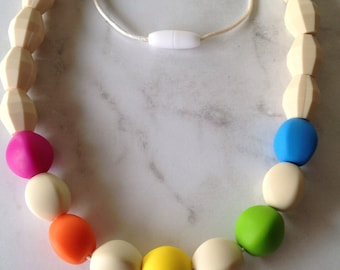 SALE! Silicone Teething Necklace - Multi Colour