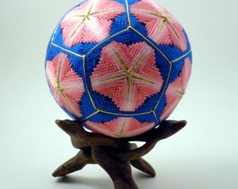 Japanese Temari Ball - Tsubaki (Camellia) Design