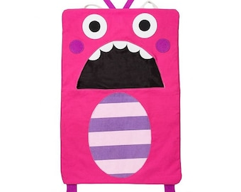 Pink Monster Cotton Laundry Bag