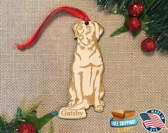 Labrador Retriever Ornament *** Lab Ornament *** Personalized Dog Ornament  ***Dog Lover Gift *** Christmas Holiday Ornament ***