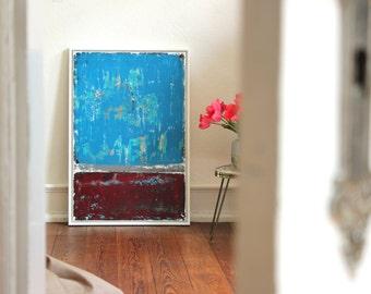 "Abstract art 60cm x 90cm title ""SHABBY"""