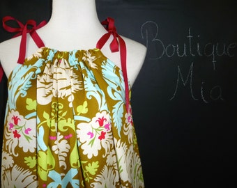 Swing DRESS or TOP - Amy Butler - Acanthus - Made in ANY Size - Boutique Mia