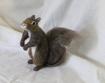 Needle Felted Custom Made to Order Squirrel