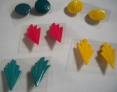 Set of earrings, blue, pi...