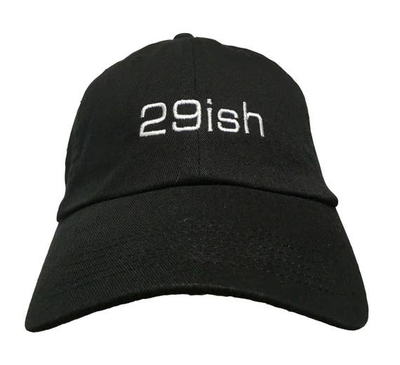 29ish (Polo Style Ball Black with White Stitching)