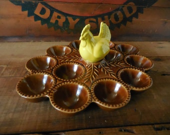 California USA Pottery Deviled Egg Tray display plate
