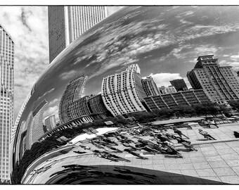 The Bean // Chicago, Illinois // Cityscape // FIne Art Photograph // Abstract Art // Christmas Gift
