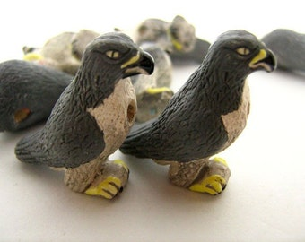 10 Large Peregrine Falcon Beads