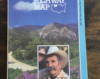 1985-1986 Official Montana Highway Map / Full Color
