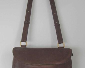 Delvaux Brussels Brown leather bag, Shoulder Leather bag/purse, Vintage Belgian Designer bag