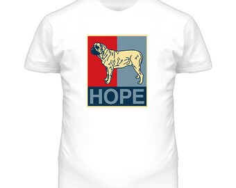 Mastiff Custom Dog Breed Hope Parody T Shirt