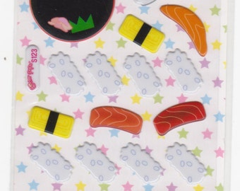 Sushi Stickers - Raised Stickers - Reference B1915