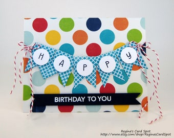 Pennant Birthday Banner Greeting Card