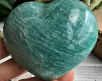 Amazing Amazonite Crystal Heart !