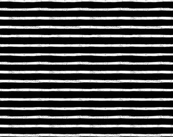 Stripes in Jailbird by Sarah Golden from the Around Town collection for Andover #A-8765-K by 1/2 yard