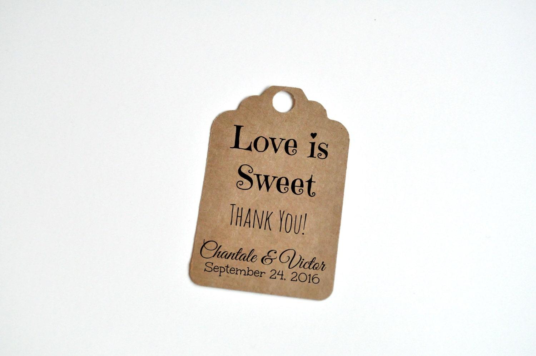 Love is sweet wedding favour tag, wedding tag, wedding favor tag ...
