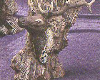 """Driftwood Elk  12"""" ceramic bisque, ready to paint"""