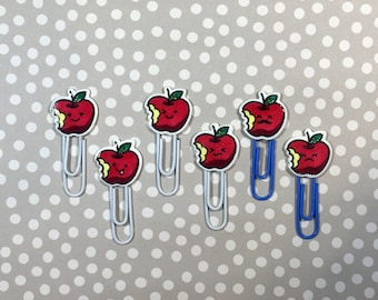 Day Planner Paper Clips • Kawaii Red Apples • LIMITED RUN