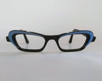 NOS, Vintage 1960s, French 'Cat-Eye' Eyeglasses