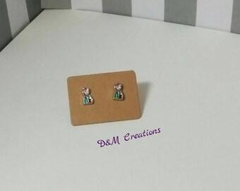 Frozen Inspired Anna Stud Earrings - Girls Earrings - Anna Earrings - Disney Inspired Frozen Studs - Anna Stud Earrings - Kids Stud Earrings