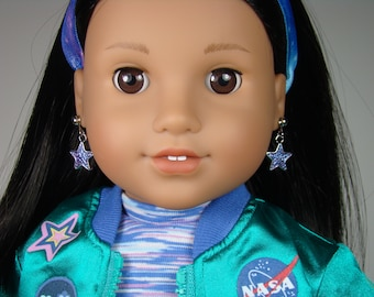 "Star Earring Dangles for 18"" Play Dolls such as American Girl® Luciana"