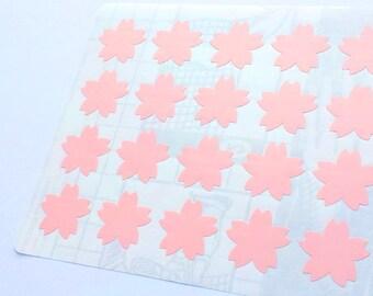 40 Pink Cherry Blossom Stickers, Pink Sakura Stickers, Planner Stickers, Envelope Seal, Party Stickers, Wedding Stickers, Birthday Stickers