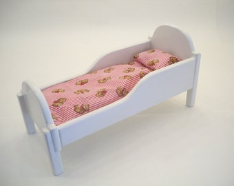 Doll Crib, Doll Furniture, Wood Doll Bed,  American Doll Cradle, Baby Doll Cradle, Wooden Doll Cradle, Wooden Doll Bed