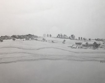Pencil Sketch for Chester Farm