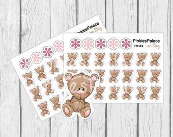 Bear Planner Stickers Bear Stickers Cute Bear Stickers