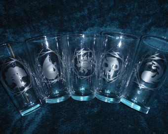 Set of Magic the Gathering Glasses