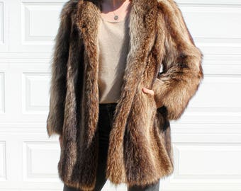 Vintage Raccoon Fur Coat