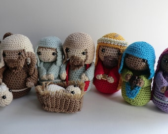 Free Amigurumi Nativity Pattern : Nativity peg doll set christmas nativity scene christmas