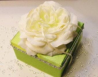 Custom Wedding ring bearer box pillow , flower  -Custom order.