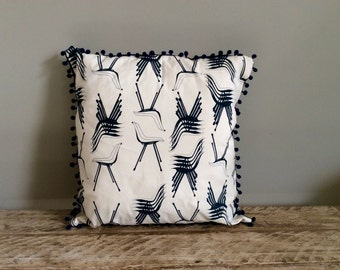 Handmade Cushion with Polyprop Chair Design in Navy
