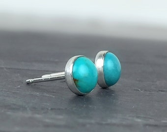 Turquoise Studs, Turquoise Posts, Stud Earrings, Sterling Silver Posts, Turquoise and Silver Studs, Gemstone Posts, Turquoise Earrings