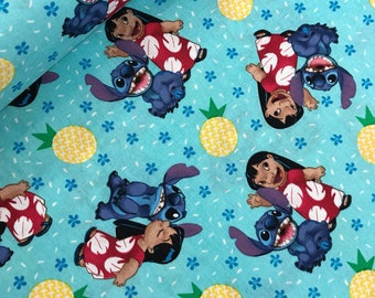 Disney Lilo and Stitch Ohana Means Family Cotton Fabric from Springs Creative