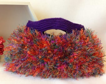 Bright Rainbow Knitted Bag