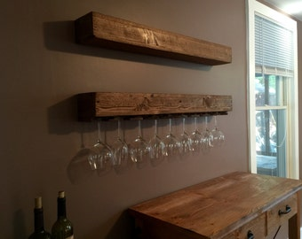 Floating Shelf with or w/o wine glass rack