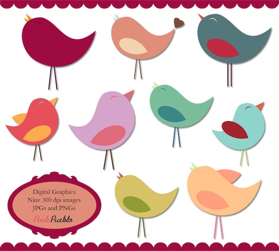 birds clip art clipart beautiful birdies in pastels rh etsy com beautiful clipart graphics beautiful clipart pinterest
